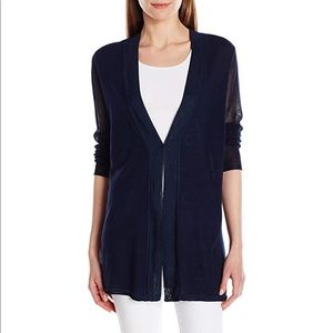 NYDJ Netted Long Sleeve Cardigan Sweater Small
